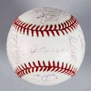 1998 World Series Champs - New York Yankees Team-Signed OML Baseball - 27 Sigs. - JSA Full LOA