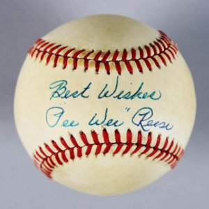 Brooklyn Dodgers - Pee Wee Reese Signed & Inscribed ONL Baseball - COA JSA