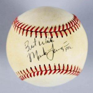 Anaheim Angels - Mark Langston Signed & Inscribed OAL Baseball - COA JSA