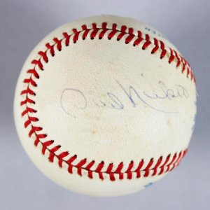 Brothers - Phil Niekro & Joe Niekro Signed OAL Baseball - COA JSA