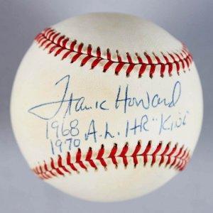 Texas Rangers - Frank Howard Signed & Inscribed OAL Baseball - COA JSA