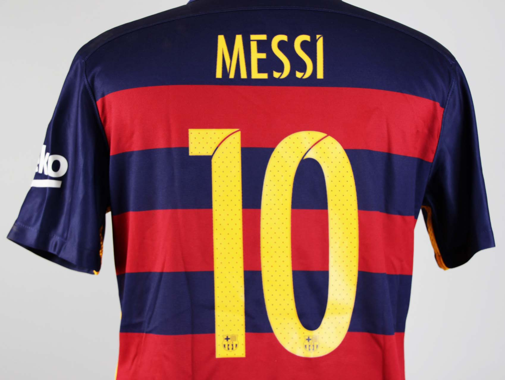 02e4d2b0559 A Lionel Messi Game-Used   Unwashed  10 FC Barcelona Home Shirt. 2016 Copa  del Rey Final. FC Barcelona (2) – (0) Sevilla FC. Vicente Calderón.