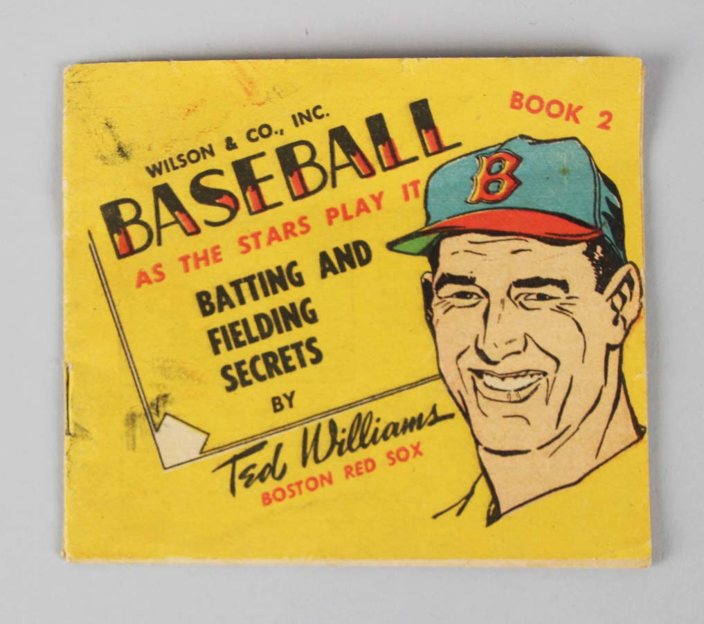 1955 Wilson Franks Premium booklet RARE Ted Williams Boston Red Sox