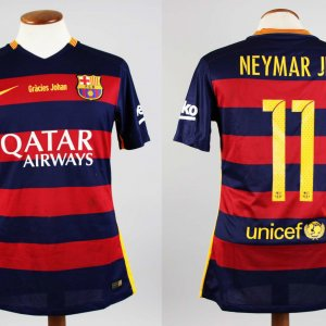 A Neymar Game-Used Unwashed #11 FC Barcelona Home Shirt 04/02/2016 La Liga vs Real Madrid CF