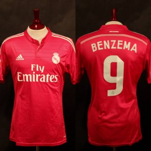 A Karim Benzema Game-Used #9 Real Madrid CF Away Shirt.  2014/15 La Liga Season.