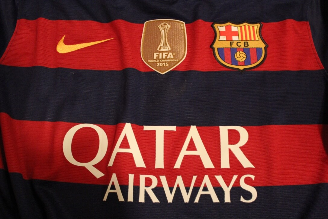 7b6ccd22d50 A Lionel Messi Game-Used   Unwashed  10 FC Barcelona Home Shirt. 2015 16  UEFA Champions League.
