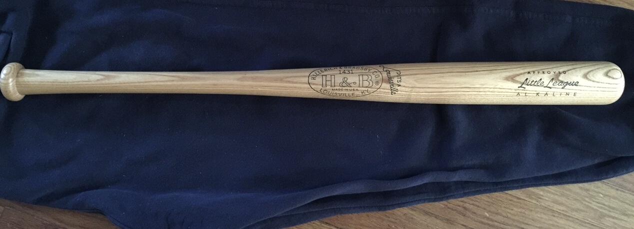 "Al Kaline Vintage 1960's H&B Hillerich & Bradsby Model Baseball Bat Unused 28"""