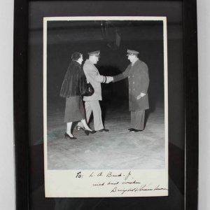 President Dwight D. Eisenhower Signed & Inscribed 11.5 x 15 Photo Display - JSA