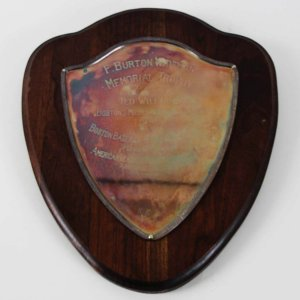 1949 Boston Red Sox - Ted Williams MVP Award Plaque by Boston Baseball Writers Association