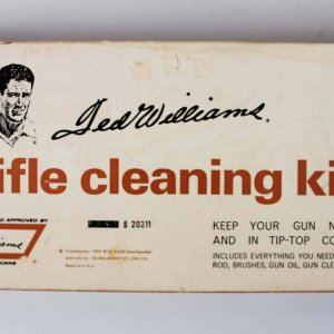 Vintage 1960s Sears Ted Williams Rifle Gun Cleaning Kit W/Gun Oil & Lube 20211