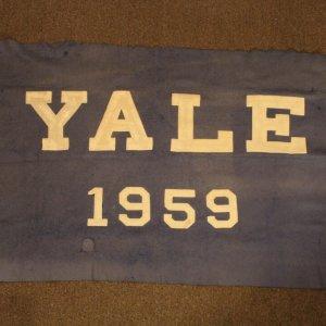 A 1959 Yale University Felt Banner.