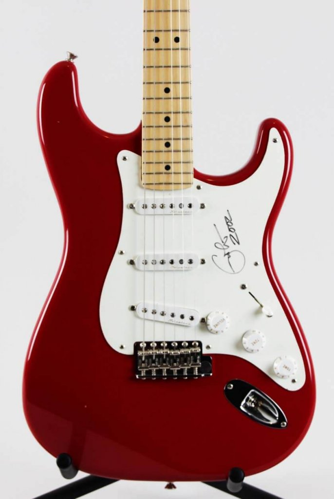 Eric Clapton Signed Guitar, Dated Fender American Stratocaster LE Clapton Model JSA Full LOA