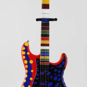 Dustin Hoffman Signed Heart Strings Original Hand Painted Art Guitar LE 1/1 - JSA