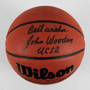John Wooden Signed, Inscribed Best Wishes UCLA (Coach) NCAA Basketball - JSA