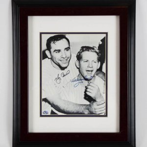 Yogi Berra & Whitey Ford NY Yankees Signed 8x10 Photo Display - Berra Family COA