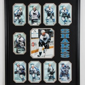San Jose Sharks Team Signed Photo Display - COA JSA