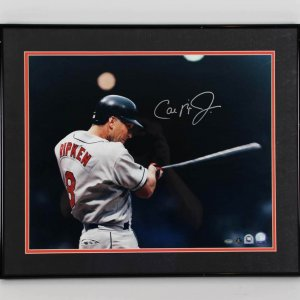Cal Ripken, Jr. Baltimore Orioles Signed 16x20 Photo Display - COA MLB
