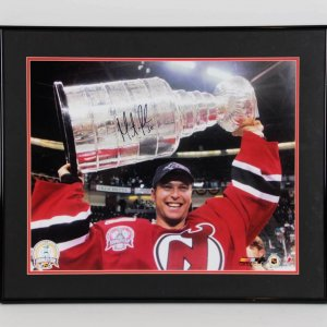 Martin Brodeur New Jersey Devils Signed 16x20 Stanley Cup Photo Display - COA Steiner