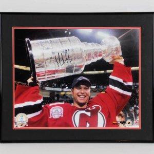 Martin Brodeur New Jersey Devils Signed 16x20 Stanley Cup Photo Display - COA Steiner
