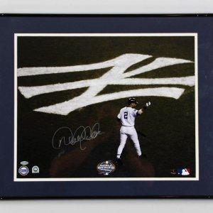 Derek Jeter New York Yankees Signed 16x20 2003 World Series Photo Display - COA Steiner
