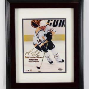 Mario Lemieux Pittsburgh Penguins Signed 8x10 Photo Display - COA Steiner