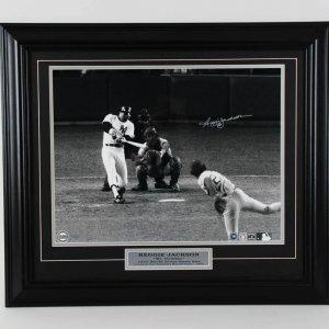Reggie Jackson New York Yankees Signed 16x20 Photo Display - COA Steiner