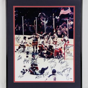 1980 Miracle on Ice Large Photo, Signed by Team- Herb Brooks (JSA & w/Photo of Signing)