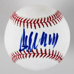 President Donald Trump Single-Signed  OML Baseball - JSA Full LOA Photo Match