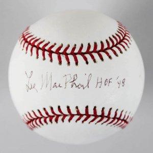 Lee MacPhail MLB American League President Signed & Inscribed OML Baseball - JSA