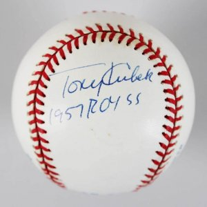 Tony Kubek & Tom Tresh New York Yankees Signed & Inscribed ROY OAL Baseball - JSA