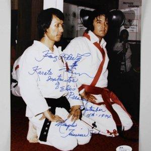 Elvis Presley Karate Instructor Kang Rhee Signed & Inscribed 8x10 Photo - COA JSA