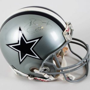 Emmitt Smith Dallas Cowboys Signed & Inscribed Full Size Authentic Helmet - JSA