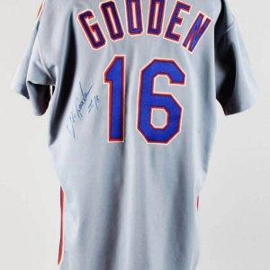 1992 Dwight Gooden Game-Worn, Signed New York Mets Jersey COA JSA & 100% Team