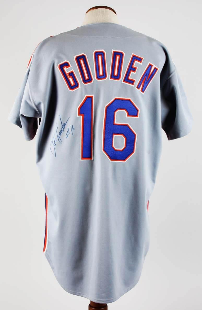 official photos c1c3e bd653 1992 Dwight Gooden Game-Worn Jersey Signed Mets - COA JSA & 100% Team