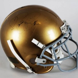 Notre Dame Game-Worn Helmet Signed by Jerome Bettis - JSA