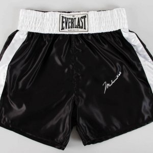 Muhammad Ali Signed Everlast Boxing Trunks - JSA Full LOA