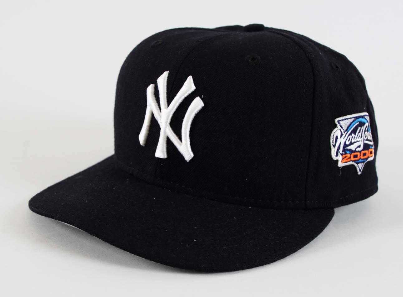 8fd4cb47d179e 2000 Yankees World Series Derek Jeter Game-Worn Hat-Grade  11 20