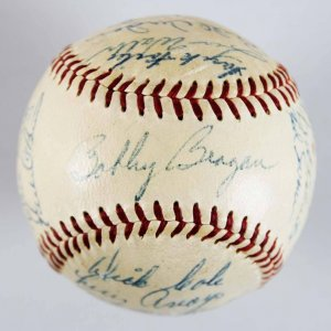1956 Pittsburgh Pirates ONL (Giles) Team-Signed Ball (25 Sigs. Incl. Rare Bob Clemente