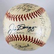 1951 yankees team signed ball