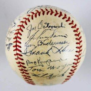 yankees team signed baseball