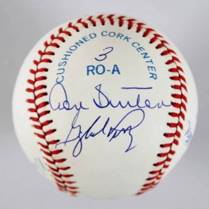 300 Win Club Multi-Signed Baseball (8) w/Nolan Ryan, etc. - COA JSA
