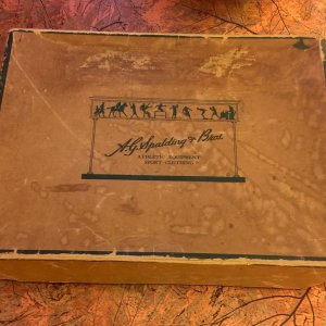 A.G. Spalding Bros. Baseball Box Vintage 1930 Antique Sports equipment