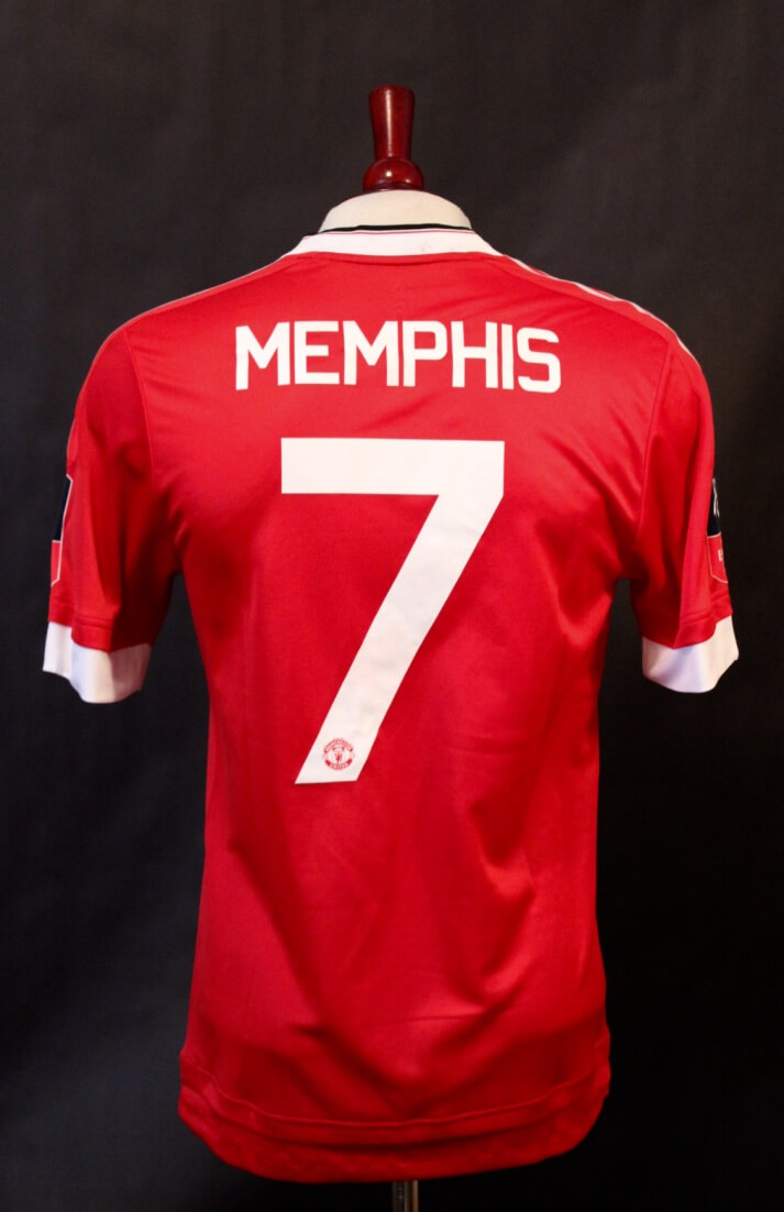 7fd083cb2 A Memphis Depay Game-Used  7 Manchester United FC Home Shirt. 2015 16 FA  Cup (Winners).