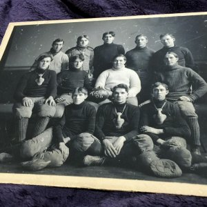 1906 Vintage Football Tigers Team Picture. Antique