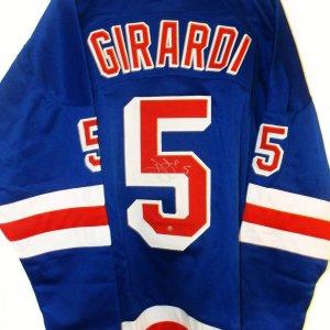 New York Rangers Dan Girardi signed custom stitch Jersey