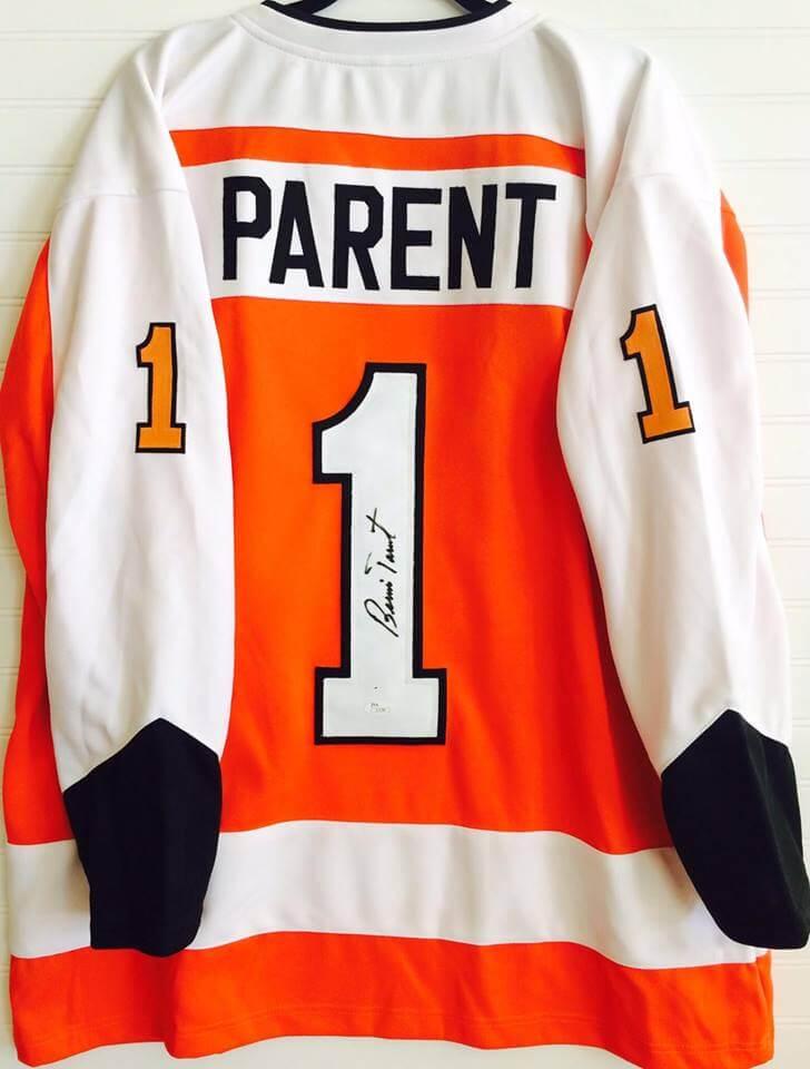 Philadelphia Flyers Bernie Parent signed custom stitched jersey ... 74d8bf4df