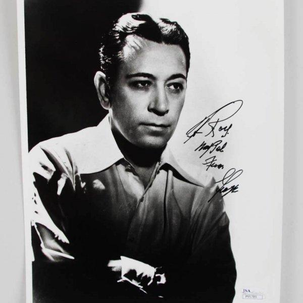 George Raft Signed 8x10 Photo W/ Inscriptions - COA JSA