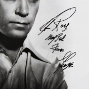 George Raft Signed 8x10 Photo W/ Inscriptions - COA JSA