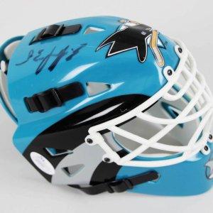 Evgeni Nabokov Signed San Jose Sharks Mini Helmet - COA JSA
