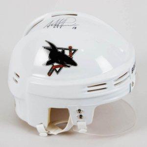Mike Ricci Signed San Jose Sharks Mini-Helmet - COA JSA